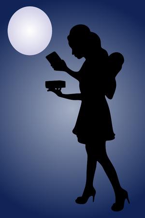 magic box: Portrait of a beautiful young fairy holding magic box