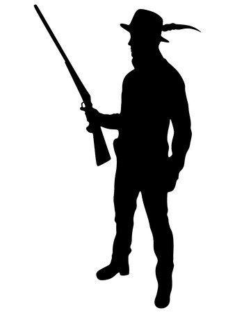 Hunter Silhouetted