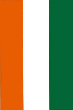 proportional: original and simple Ivory Coast flag isolated vector