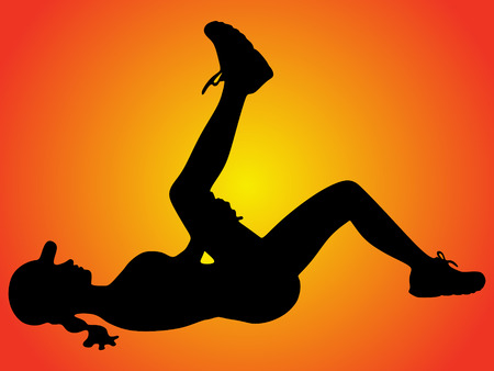 sporty: fitness and lifestyle concept - woman doing sports