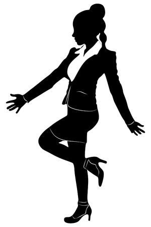 alluring: Winner concept, business woman Illustration