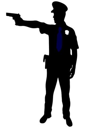 policeman in uniform , vector