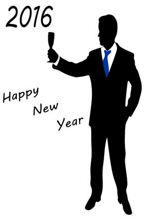 Happy new year - Business man