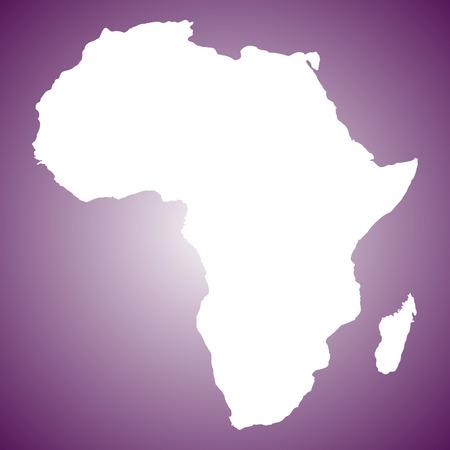 map of Africa Ilustração