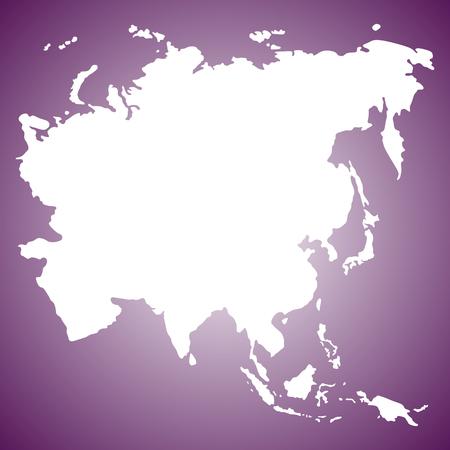 ASIA MAP VECTOR Ilustração