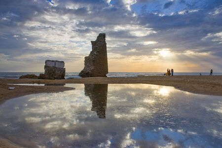 ruins reflection