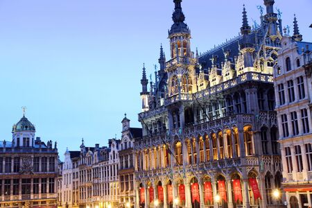market hall: Grand Place, Grote Markt,  Brussels,  Belgium,  Europe Stock Photo