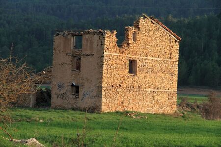 selva: Spring landscape in the Gudar mountains,  Virgen de la Vega, Alcalala de la Selva, Teruel province, Spain Stock Photo