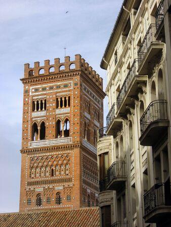 mudejar: El Salvador mudejar tower,Teruel city,Spain