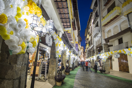 MORELLA SPAIN ON AUGUST 25,2018: The Sexenni is one of the oldest festival in Spain, was celebrated for the first time in 1678, after establishing the council a sexennial celebration in honor Vallivana Virgin.