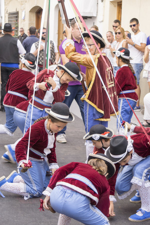 MORELLA SPAIN ON AUGUST 26,2018: The Sexenni is one of the oldest festival in Spain, was celebrated for the first time in 1678, after establishing the council a sexennial celebration in honor Vallivana Virgin. Redakční