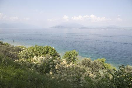 Garda lake from Sirmione Lombardy Italy Фото со стока