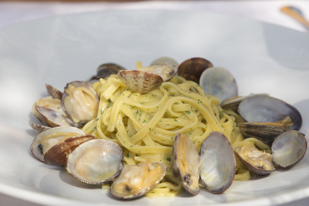 Spaguetti with clambs Italy