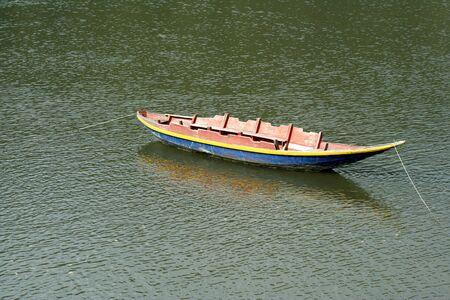 anchored: Anchored boat