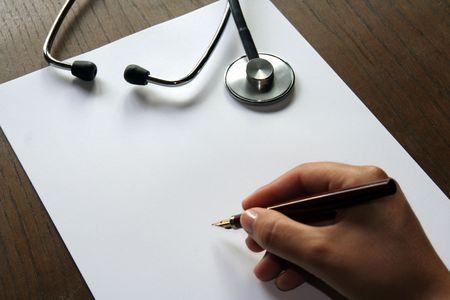 Prescription sheet and scope