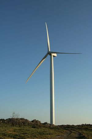 conservational: A windmill used for energy