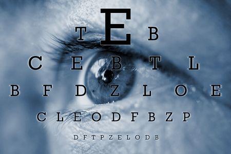 sight chart: exame del ojo Foto de archivo