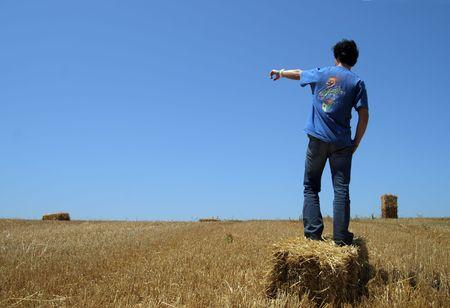 Man in a Barley field