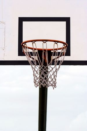 A Basketball Hoop With A Net  Stock Photo