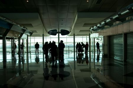 People waiting at the international airport terminal Stock Photo - 909907