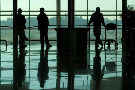 people waiting at the international airport terminal Stock Photo - 909909