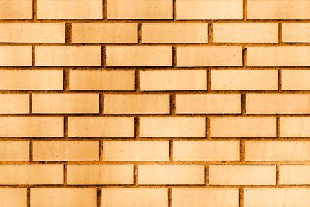 Modern ornage brick wall.