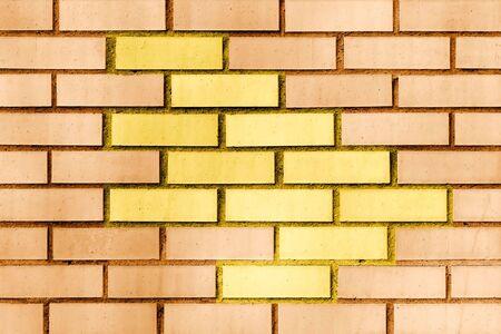 ornage: Modern ornage brick wall.