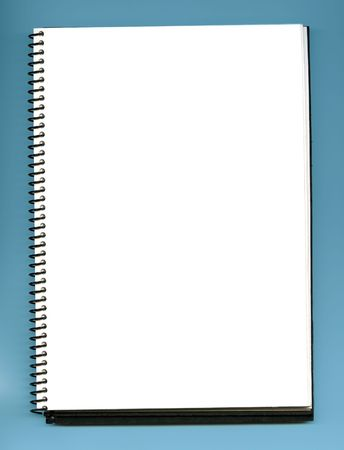 open blank  empty notebook  photo