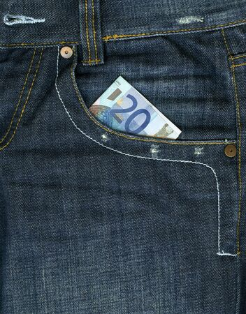 Money in pocket, blue jeans