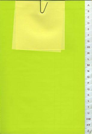 Książka telefoniczna - od A do Z - z Yellow notatki Zdjęcie Seryjne