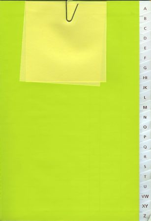 Phone book - A to Z - with a Yellow note Stock Photo - 1269186