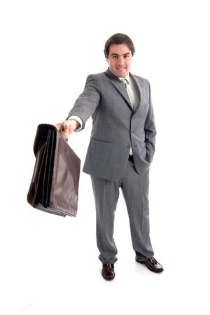 young businessman with a suitcase Stock Photo - 1269241