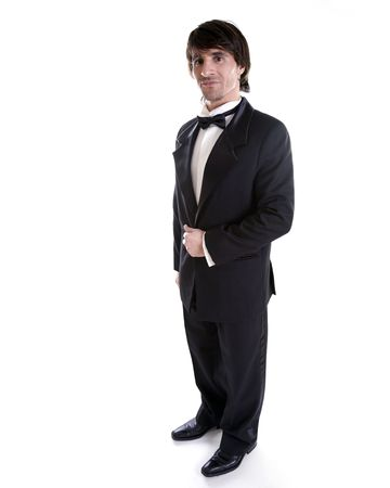 man wearing black tuxedo, dress for special occassion