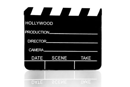 movie clapboard used by movie directors over white background Stock Photo - 3670507