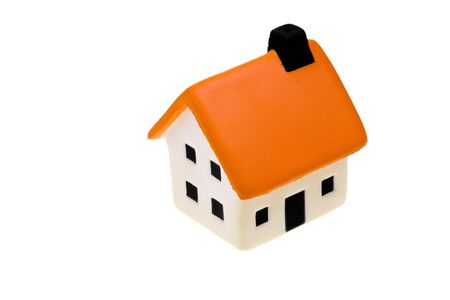 An isolated small house on white background Stock Photo - 3851378