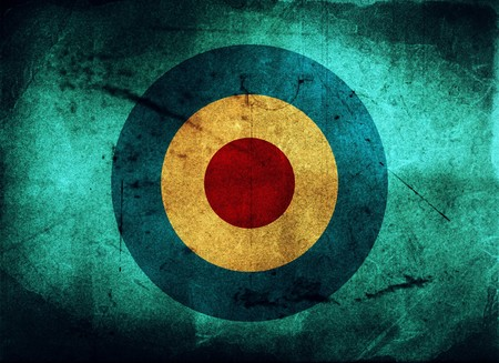 archer: Vintage background - paper - target concept Stock Photo