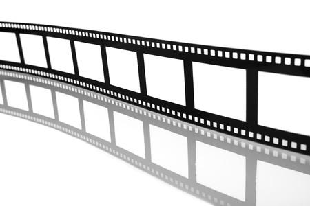 Blank Flowing Film Strip
