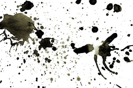 Set of grunge ink blots in black and white Stock Photo - 4797901