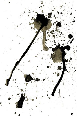 Set of grunge ink blots in black and white