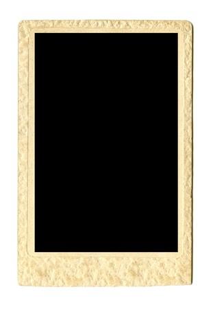 vintage empty photo frame isolated on white