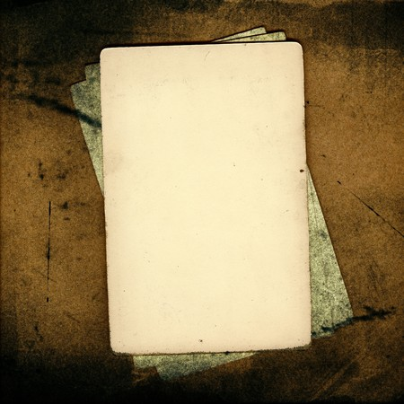 Grunge papers over brown background great for scrapbook Stock Photo