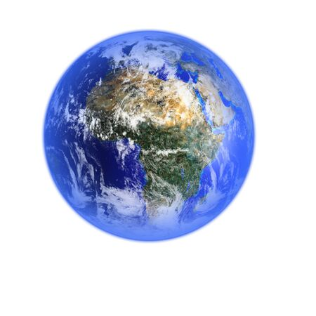 Render of planet Earth Stock Photo - 9980116
