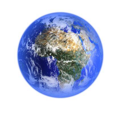 render: Render of planet Earth