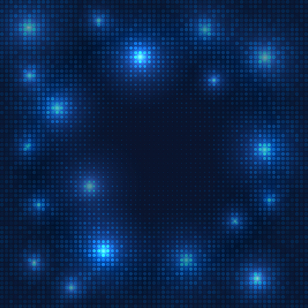 Abstract blue background with dots.