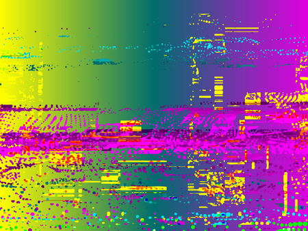 Glitched background. Random signal error. Abstract background of colorful pixel mosaic. Element for design.