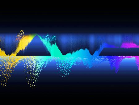 Music abstract color background. Equalizer showing sound wave. Technology and science background concept.