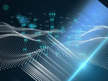 Abstract futuristic concept of analysis. Quantum virtual cryptography. Business visualization. Big data. Banque d'images