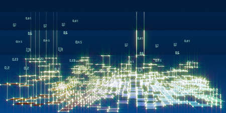 Abstract analysis infographics background with blurred lines. 3d diagram analysis algorithms. Big data. Data chart. City network concept.
