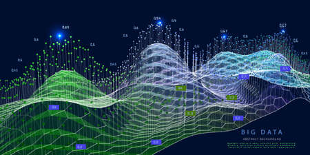 Abstract visualization polygonal grid algorithm granalyze data. Quantum cryptography concept. Big data. Analytics algorithms data. Banner for bussines, science and techology.