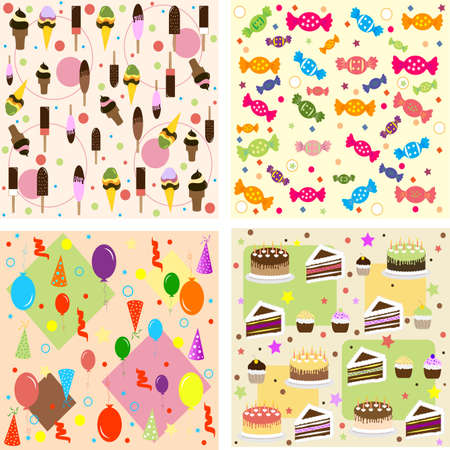 EPS 10 Vector illustration celebration patterns  Used opacity, transparency and blending mode Vector